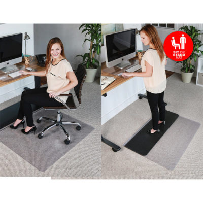 Chair Mat for Sit and Stand Desk - Rectangle
