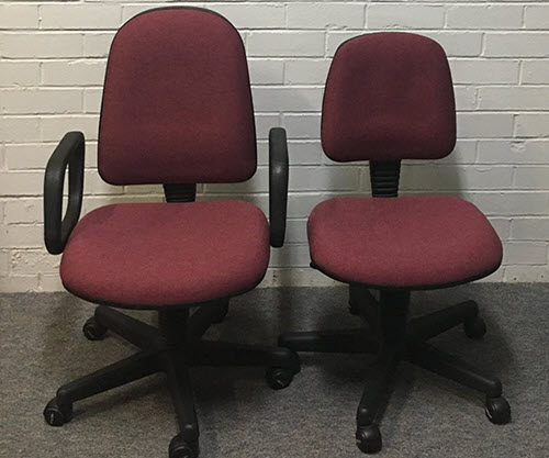 Office chairs after reupholstering