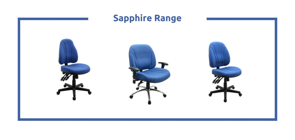 Sapphire Range - desk chair without wheels